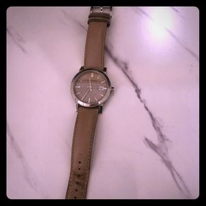 Burberry watch with tan leather straps